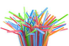 Colorful straws. Stock Photo