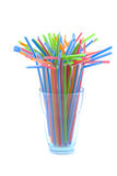Colorful straws. Royalty Free Stock Image