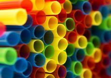 Colorful straws. Colorful background from arranged straws Stock Image