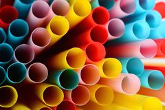 Colorful straws background Royalty Free Stock Photo