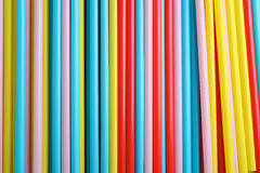 Colorful straws background Stock Photos