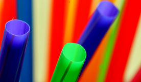 Colorful straws. Close up of a colorful drinking straws Royalty Free Stock Image