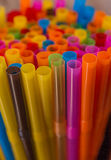 Colorful straws Royalty Free Stock Images