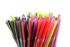 Colorful straws in closeup Royalty Free Stock Images