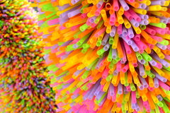 Colorful straws designed for Christmas tree Royalty Free Stock Photo