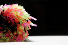 Colorful straws Stock Photography