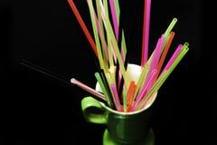 Colorful straws Stock Photos