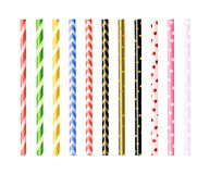 Colorful straws for drinking. Straws for smoothies and cocktails stock illustration