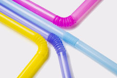 Colorful straws, elevated view Royalty Free Stock Image