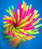 Colorful Straws Extending From A Center Stock Photography