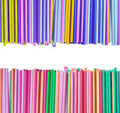 Colorful straws isolated on white Stock Photos
