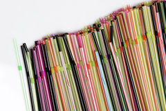 Colorful straws in line Royalty Free Stock Photography
