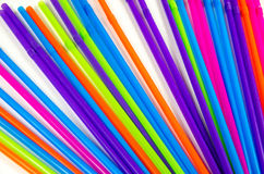 Colorful straws for party drinks Stock Photography