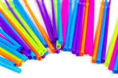 Colorful straws for party drinks Royalty Free Stock Photography