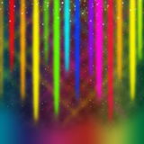 Colorful Streaks Background Means Multicolored Bands in Sky Stock Photo