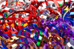 Colorful streamers Stock Images