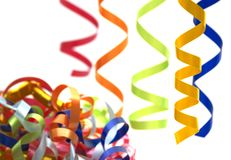 Colorful streamers stock photography