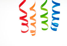 Colorful streamers Royalty Free Stock Photos