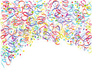 Colorful streamers and confetti Royalty Free Stock Photography