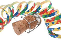 Colorful streamers with corks Stock Image