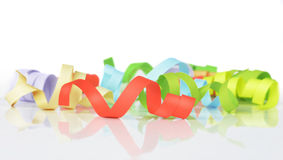 Colorful streamers Royalty Free Stock Photo