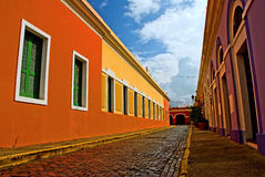 Colorful street stock image