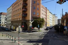 Colorful Street in Austria stock photo