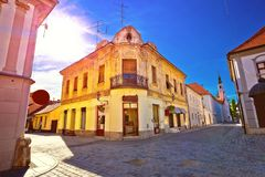 Colorful street of baroque town Varazdin view Stock Photo