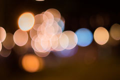 Colorful street bokeh background. This one`s look good for background, composite or decoration Stock Images