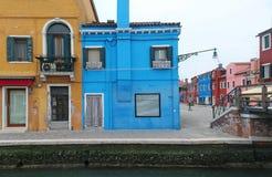Colorful street Burano Stock Photography