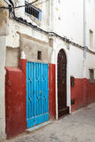 Colorful street fragment. Medina, Tangier Royalty Free Stock Photo