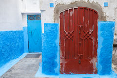 Colorful street fragment. Old Medina, Tanger Stock Photography