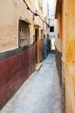Colorful street fragmet in Medina. Historical center of Tanger, Stock Images