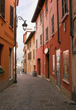 Colorful street in Italy. Colorful houses on the street in Italy Royalty Free Stock Photography