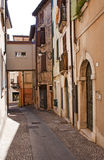 Colorful street in Italy. Colorful houses on the street in Italy Stock Photos