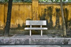 Colorful street with light bench in Hanoi stock photos