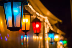 Colorful street lights Royalty Free Stock Images