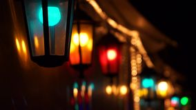 Colorful street lights stock video