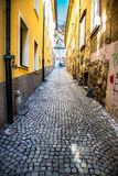 Colorful street in Ljubljana, Slovenia Royalty Free Stock Photos