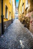 Colorful street in Ljubljana, Slovenia Royalty Free Stock Photos
