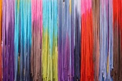 Colorful street market. Street market with colorful fashion shawls royalty free stock photo