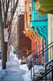 Colorful street of Montreal Royalty Free Stock Images