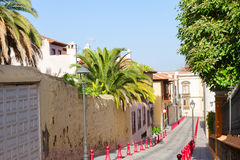 Colorful street in old town, Orotava, Tenerife island Stock Photo
