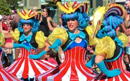 Colorful street performers at Disneyworld Royalty Free Stock Image