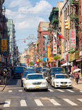 Colorful street scene at Chinatown in New York City Stock Photography