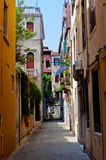 Colorful street in Venice Stock Photo