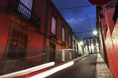 Colorful streets of Arucas Royalty Free Stock Photo