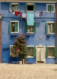 The colorful streets of Burano - Venice Stock Photos