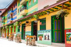 Colorful streets of Guatape city in Colombia. The colorful streets of Guatape city in Colombia Stock Photography