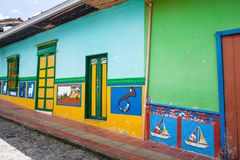 The colorful streets of Gutatape, Antioquia. Colombia Stock Photography